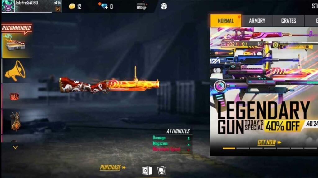 Free Fire Legendary Gun Store