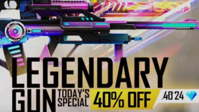 Free Fire Legendary Gun Store 40% off