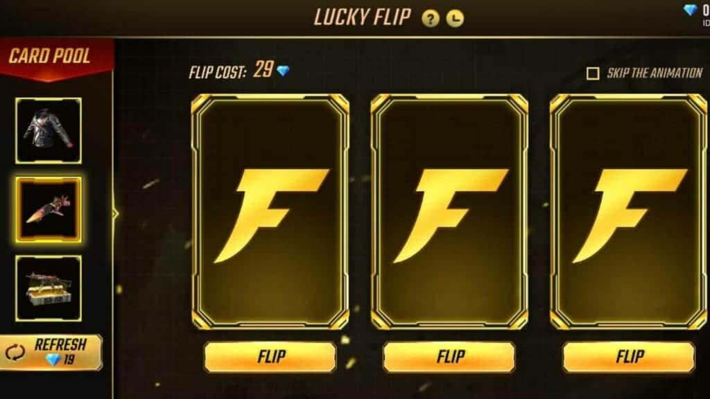 Free Fire Lucky Flip