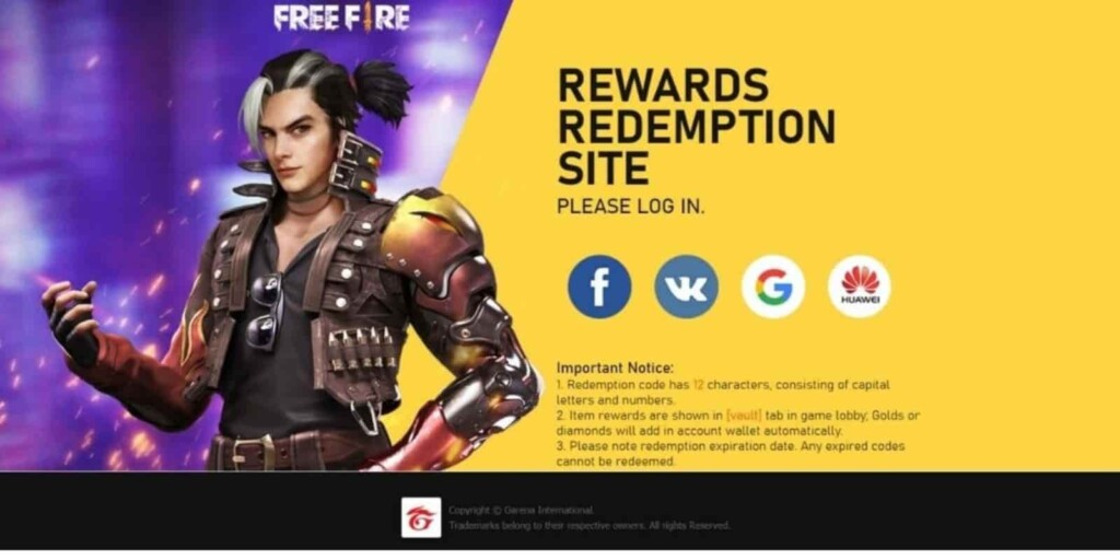 Free Fire redeem codes for May 2