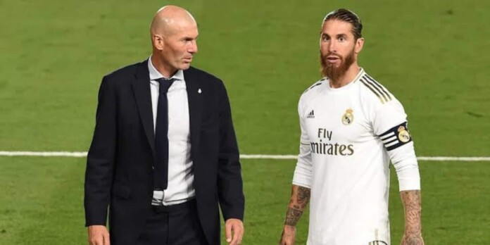 Sergio Ramos and Zidane