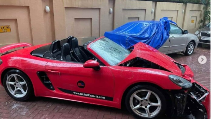 Global Esports CEO's Porsche Battered in Cyclone