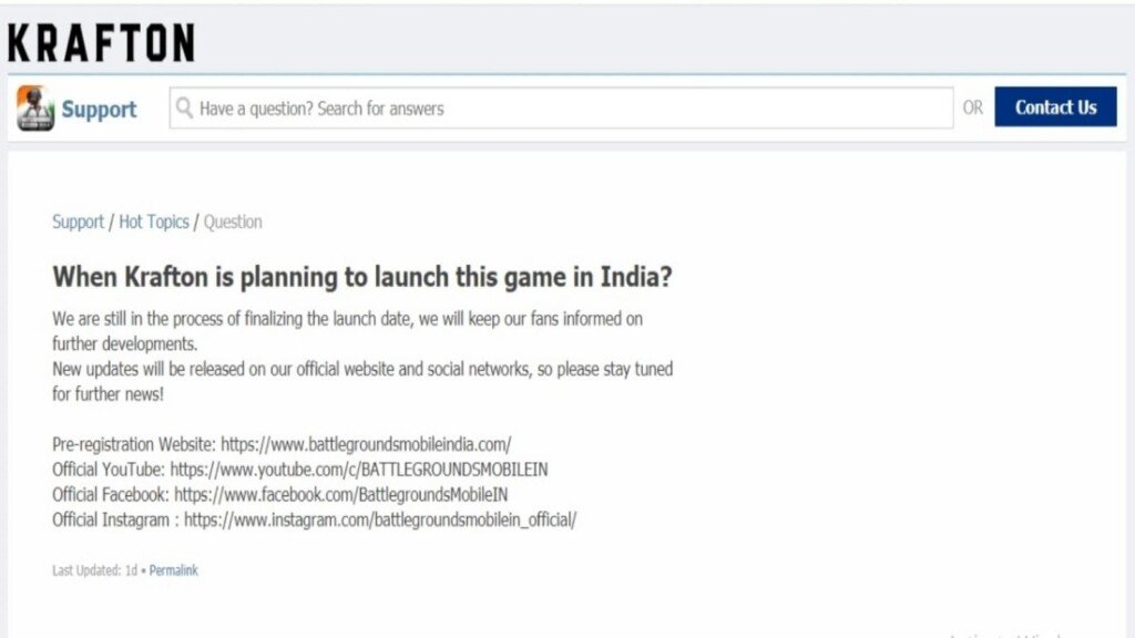 battlegrounds mobile india release date
