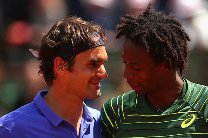 Roger Federer and Gael Monfils