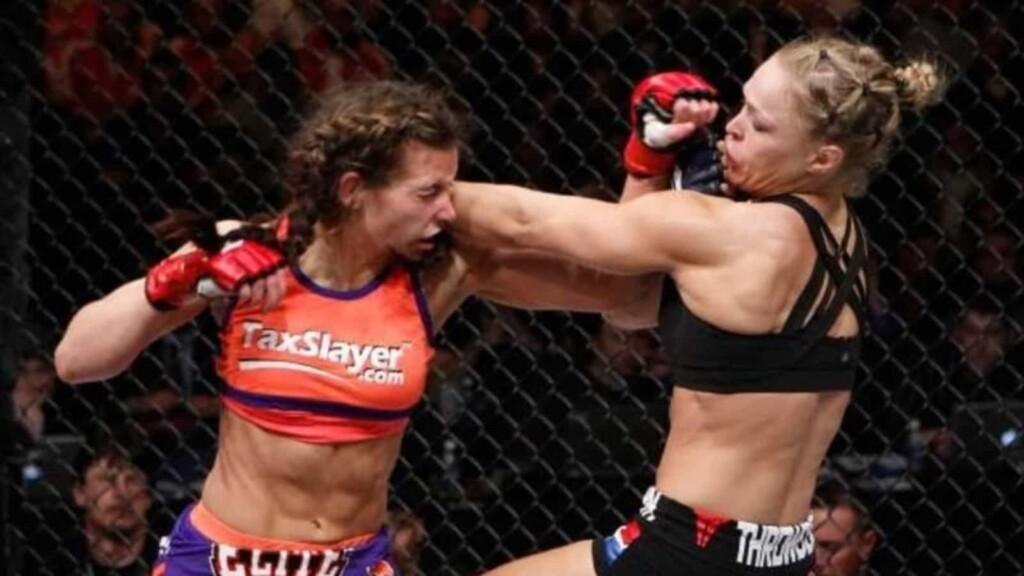 Miesha Tate and Ronda Rousey