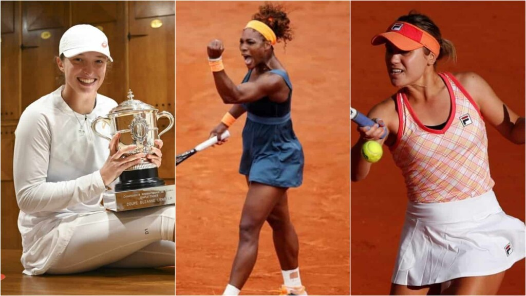 Iga Swiatek, Serena Williams, Sofia Kenin - 8th, 7th and 4th seeded players at the French Open 2021