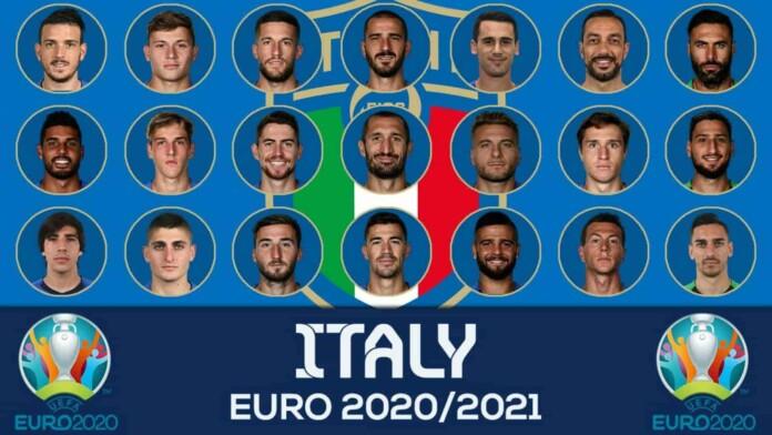 Italy squad for the Euro 2020Italy squad for the Euro 2020