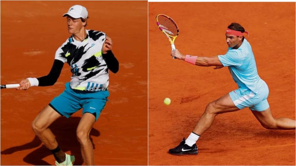 Jannik Sinner and Rafael Nadal