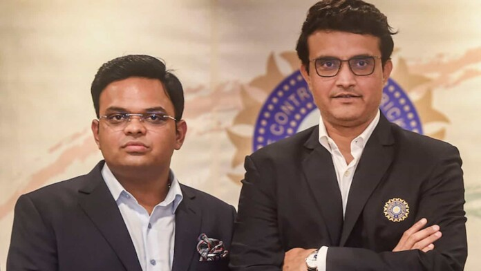 Jay Shah and Sourav Ganguly