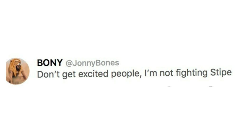 Jon Jones tweet 1 - FirstSportz