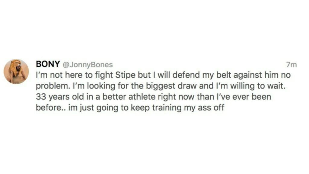 Jon Jones tweet 2 - FirstSportz