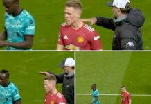 Sadio Mane snubs manager Jurgen Klopp's Handshake request after Liverpool's 4-2 victory against Manchester United