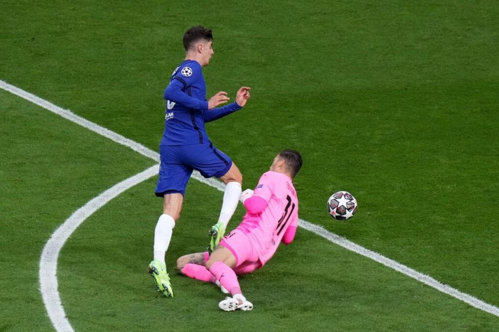 Kai Havertz scores for Chelsea