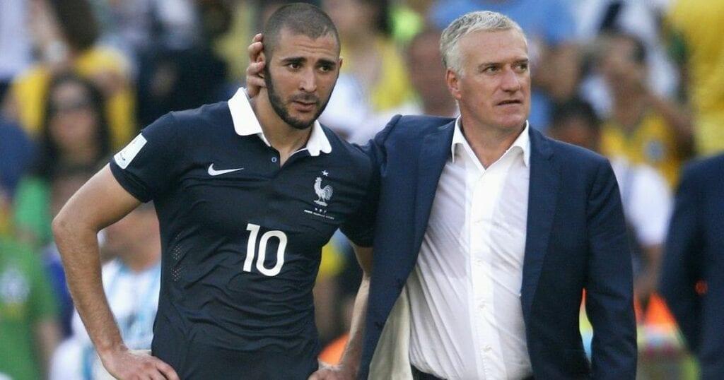 Karim Benzema and Didier Deschamps together for France before 2015 - FirstSportz