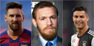 Lionel Messi, Conor McGregor and Cristiano Ronaldo, the top 100 highest paid athletes in the World