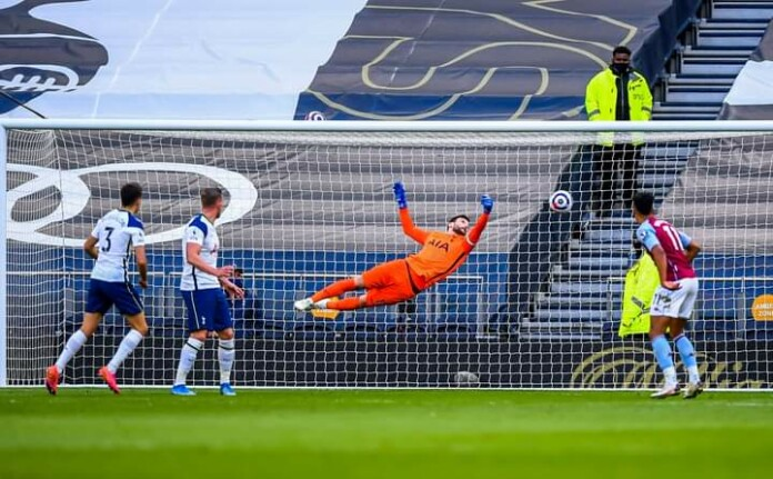 Lloris struggles to reach Sergio Reguilon's own-goal