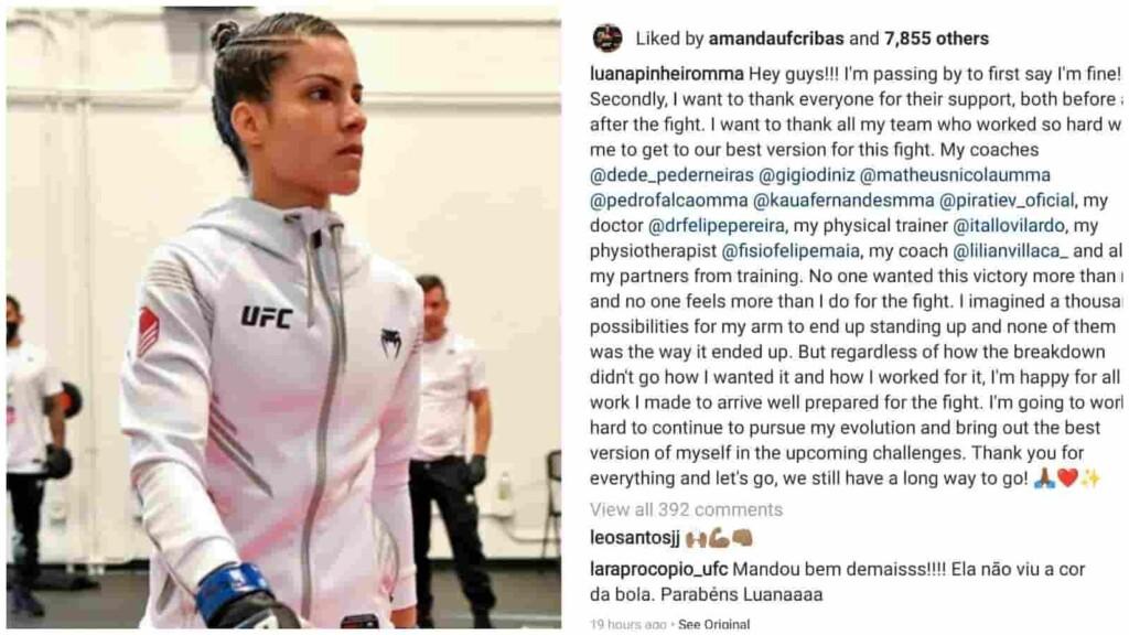 Luana Pinheiro's Instagram Post