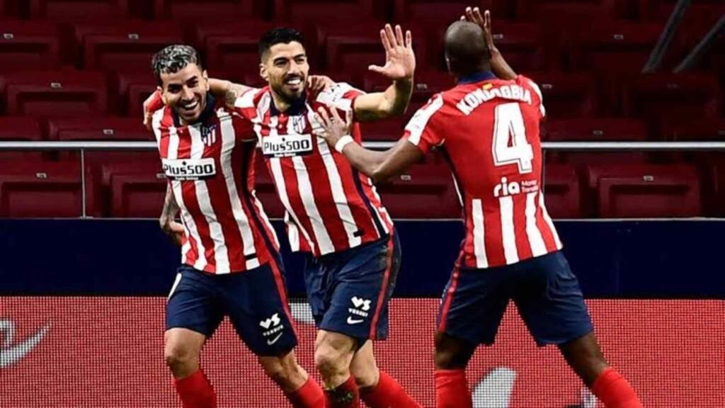 Luis Suarez gave Atletico Madrid a late winner - FirstSportz