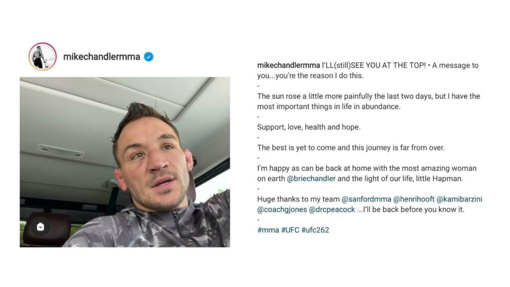 Michael Chandler's Instagram Post