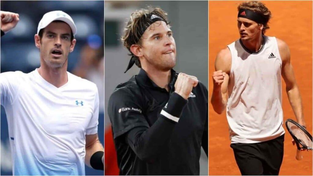 Andy Murray, Dominic Thiem and Alexander Zverev