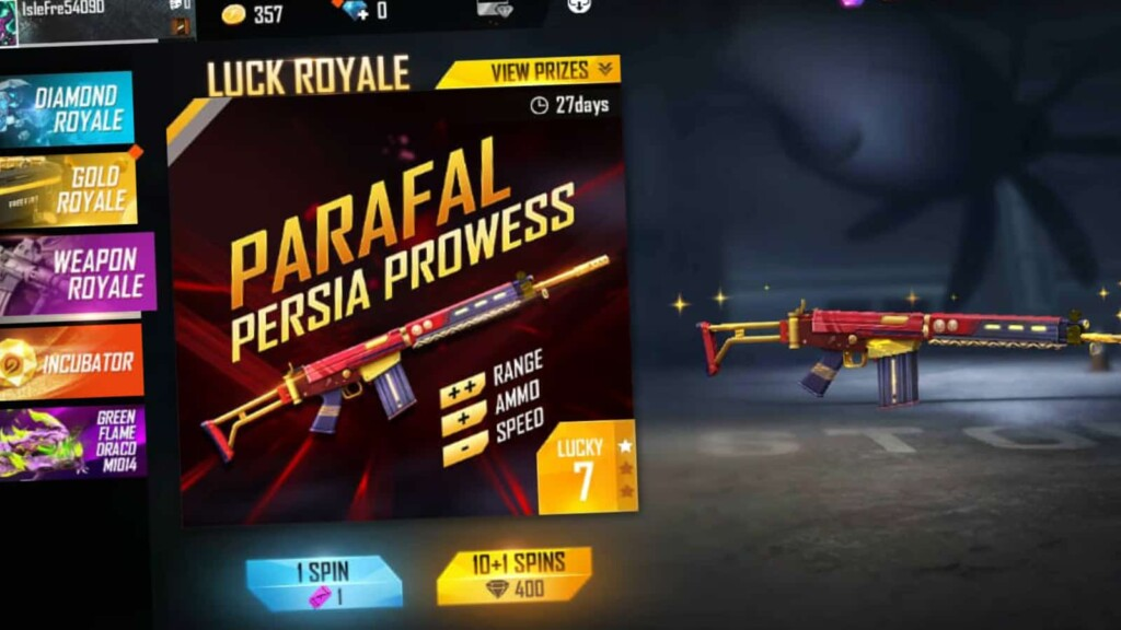Parafal Persia Prowess in Free Fire 1 - FirstSportz