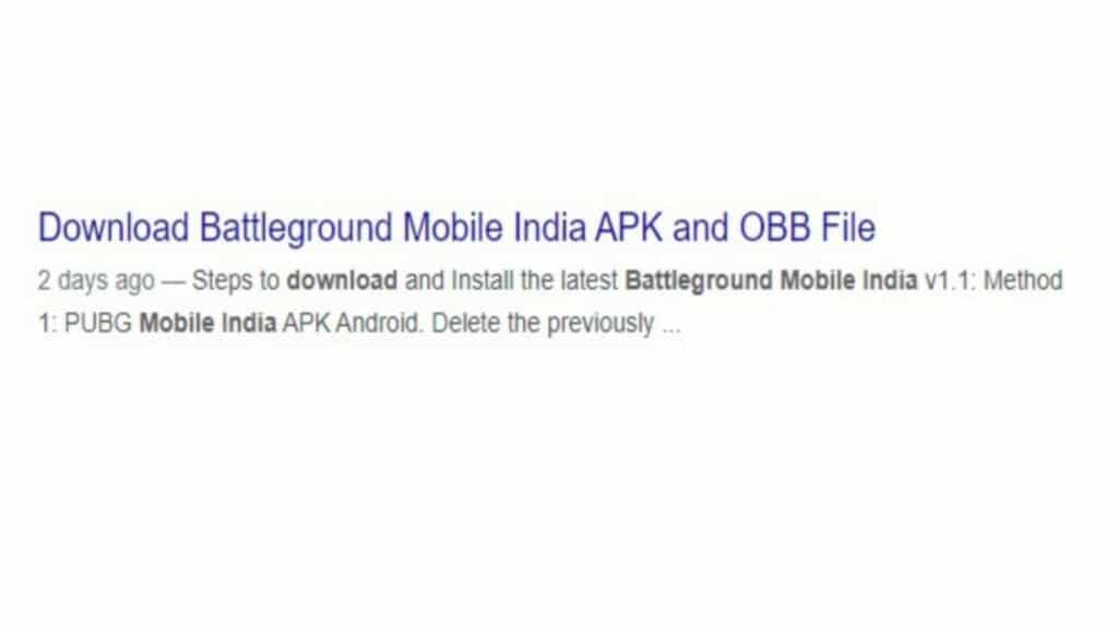 Battlegrounds Mobile India Fake APK