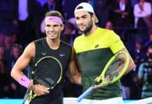 Rafael Nadal and Matteo Berrettini