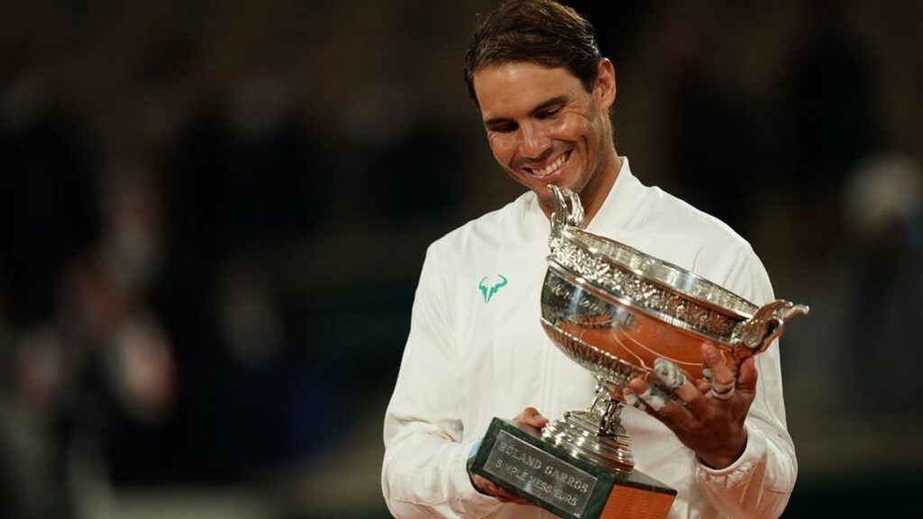 Rafael Nadal with his French Open 2020 trophy
