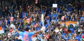 Rohit Sharma celebrates a milestone