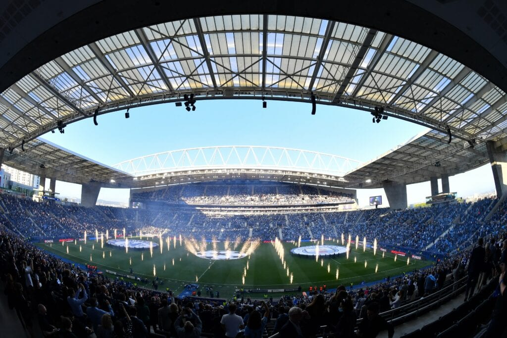 The Stadium all lit up