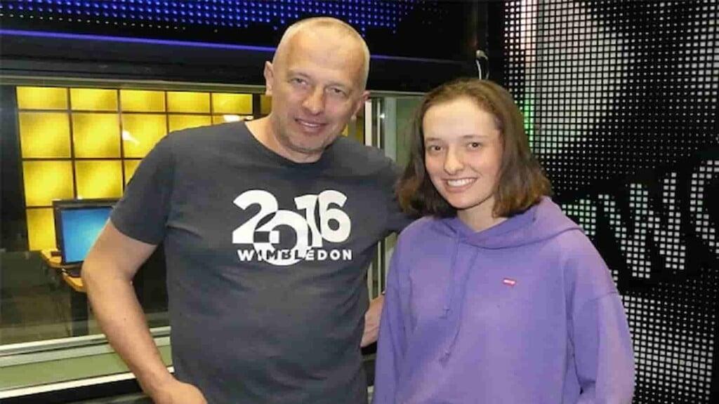 Iga Swiatek with father, Tomasz Swiatek