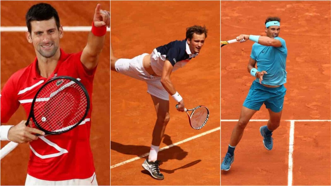 Novak Djokovic, Daniil Medvedev, Rafael Nadal - Top 3 seeds at the French Open 2021
