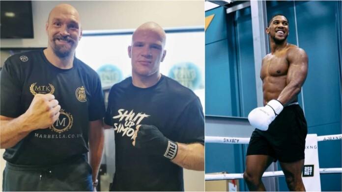 Tyson Fury, Aleksandar Mraovic and Anthony Joshua