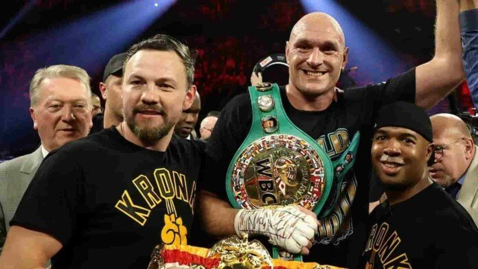 Tyson Fury and Andy Lee