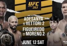 UFC 263 full fight card