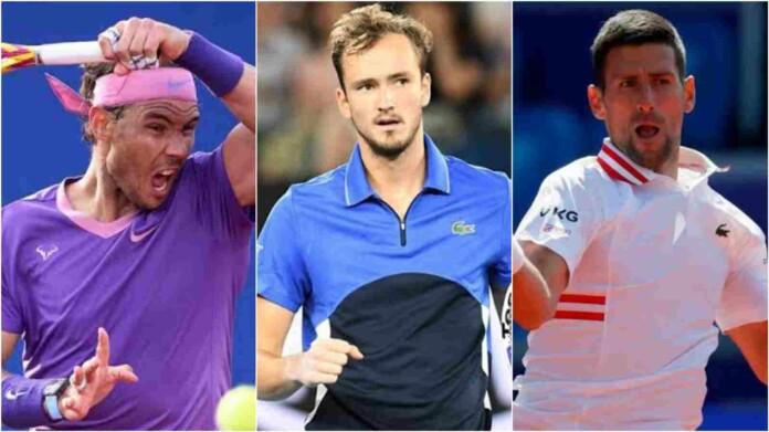 Rafael Nadal Daniil Medvedev Novak Djokovic