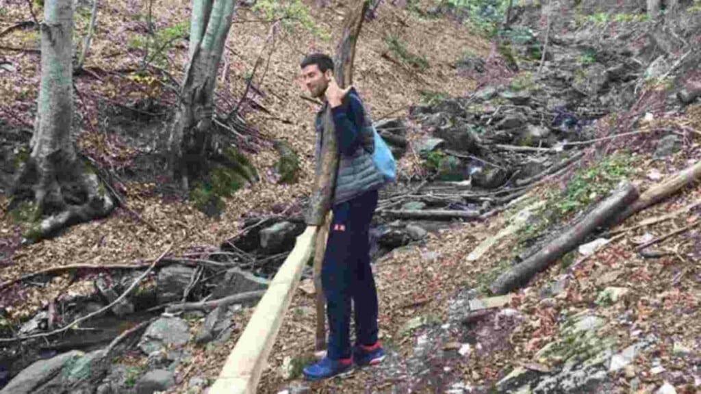 Novak Djokovic one with nature