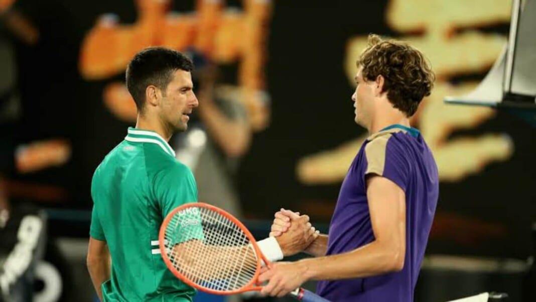 Novak Djokovic and Taylor Fritz
