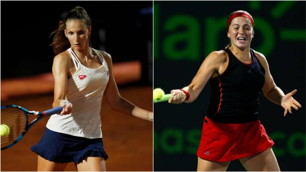 Karolina Pliskova and Jelena Ostapenko