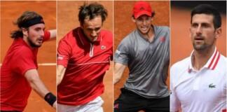 Stefanos Tsitsipas Daniil Medvedev Dominic Thiem Novak Djokovic