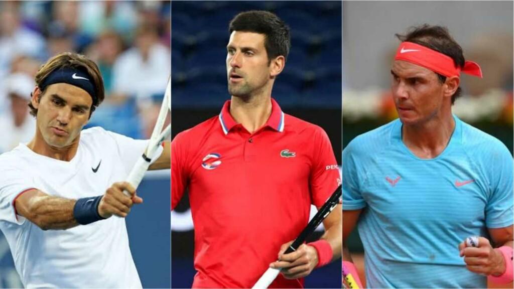 Roger Federer Novak Djokovic and Rafael Nadal