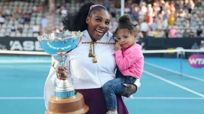 Serena Williams with daughter Olympia Ohanian