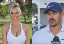 Paige Spiranac and Brooks Koepka