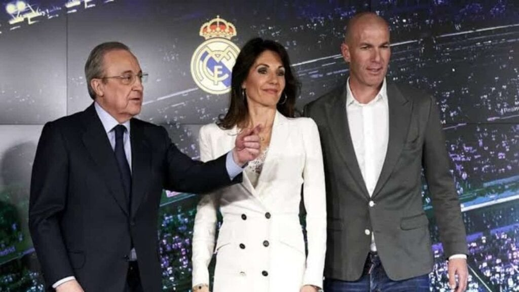 Zidane during his presentation at Real Madrid in 2019 - FirstSportz