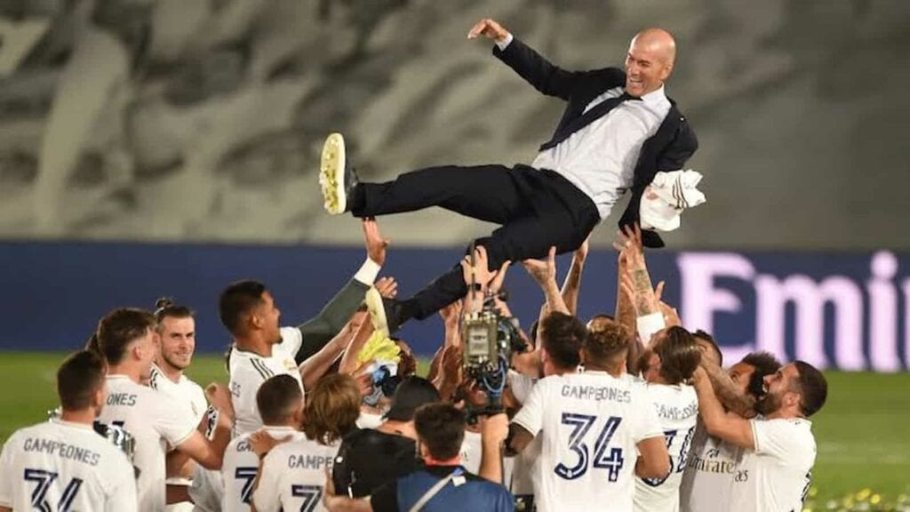 Zidane winning Real Madrids 34th La Liga title last - FirstSportz