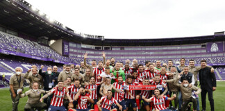 Atletico Madrid overwhelm Real Valladolid 2-1 to win their first La Liga title since 2013-14