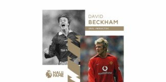 David Beckham becomes the latest player and the third from Manchester United to get inducted in the Premier league Hall of Fame