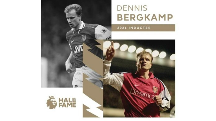 Arsenal 'Invincible' Dennis Bergkamp becomes the latest name to be inducted into Premier League Hall of Fame