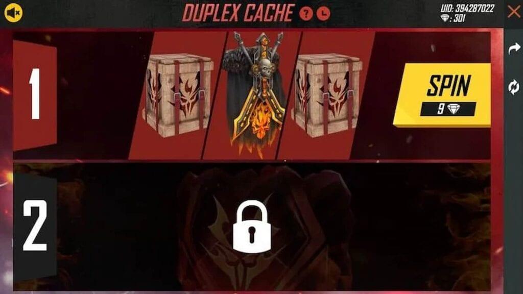duplex cache event in free fire