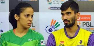Saina Nehwal and Kidambi Srikanth